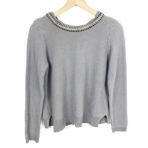RD Style Sweater Pullover w/ Embellished Collar